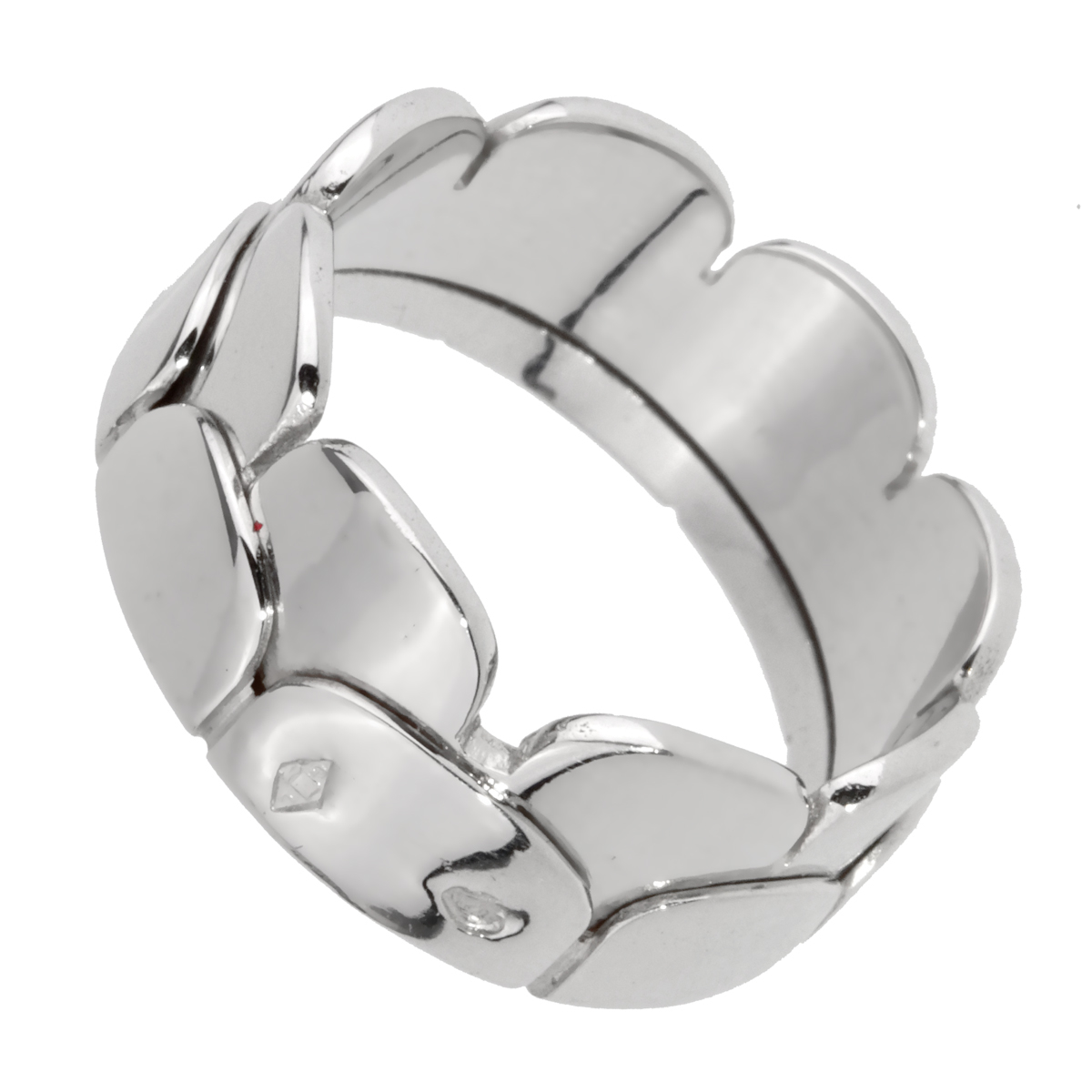 Hermes White Gold Arch Band Ring