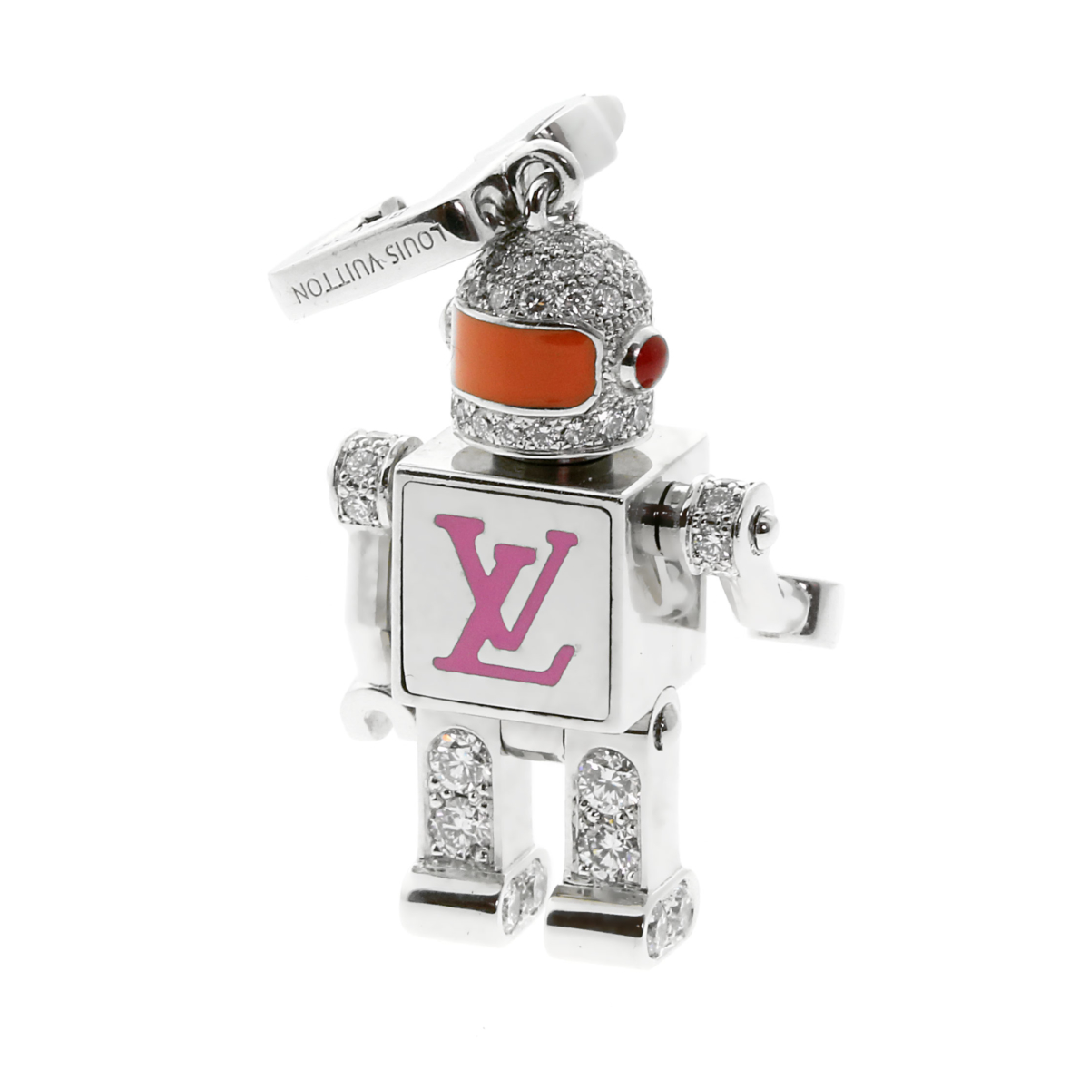 Louis Vuitton Diamond Spaceman Charm Pendant