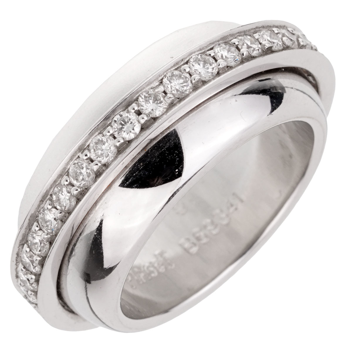 Piaget Possession White Gold Diamond Ring Sz 5 1/2
