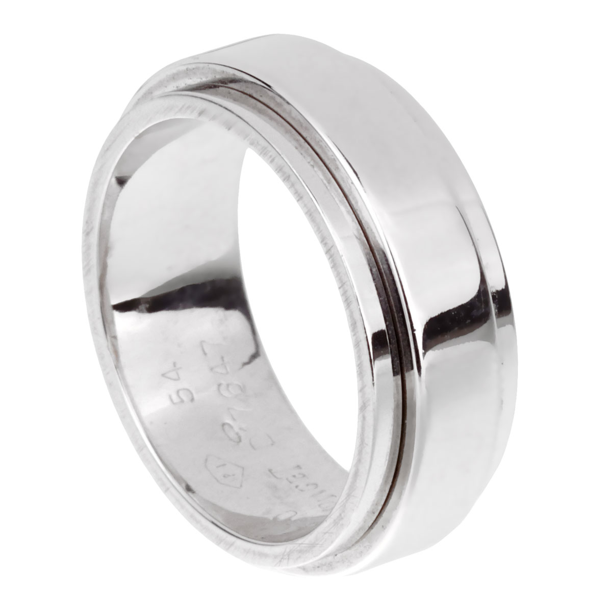 Piaget Possession White Gold Spinning Ring Sz 6 3/4