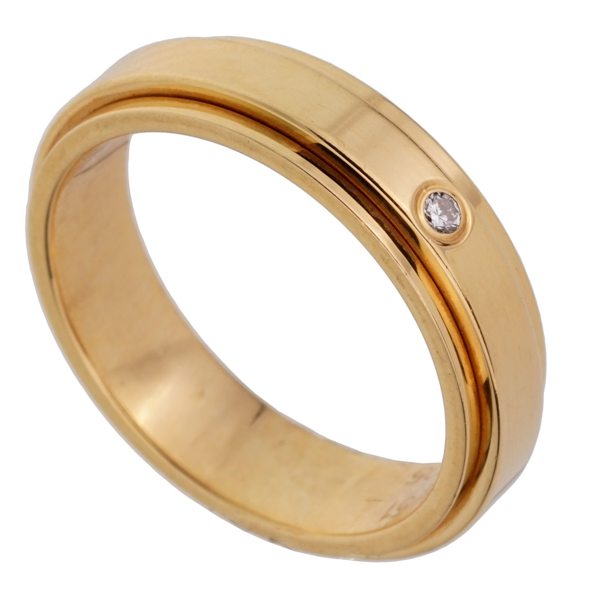 Piaget Possession Yellow Gold Diamond Spinning Ring Sz 5 1/2