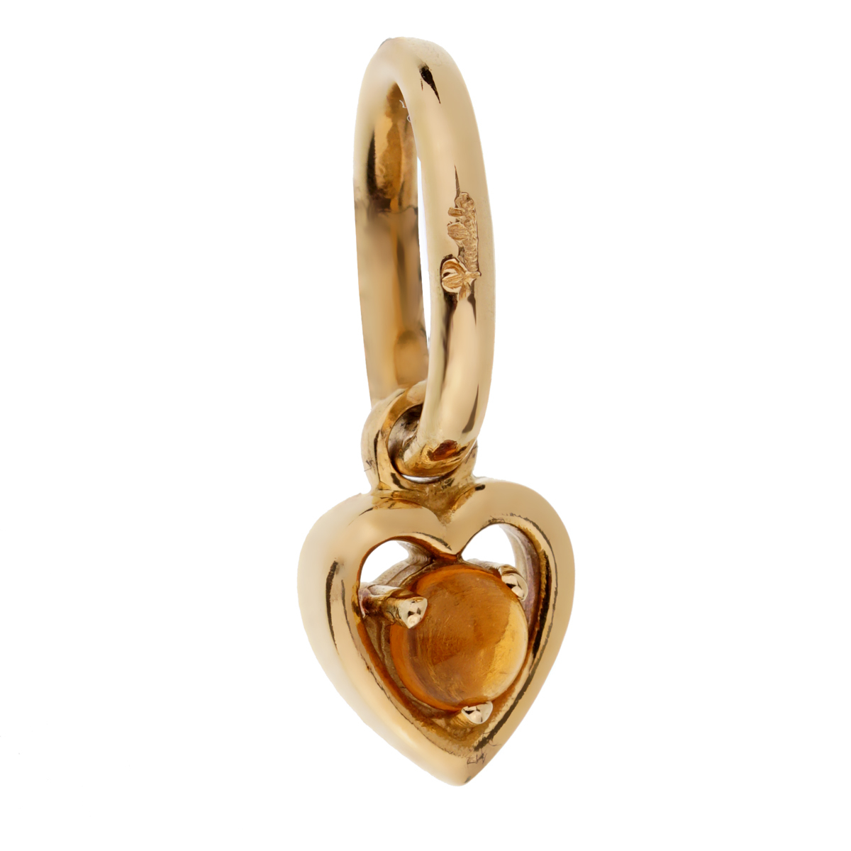 Pomellato Citrine Yellow Gold Heart Pendant