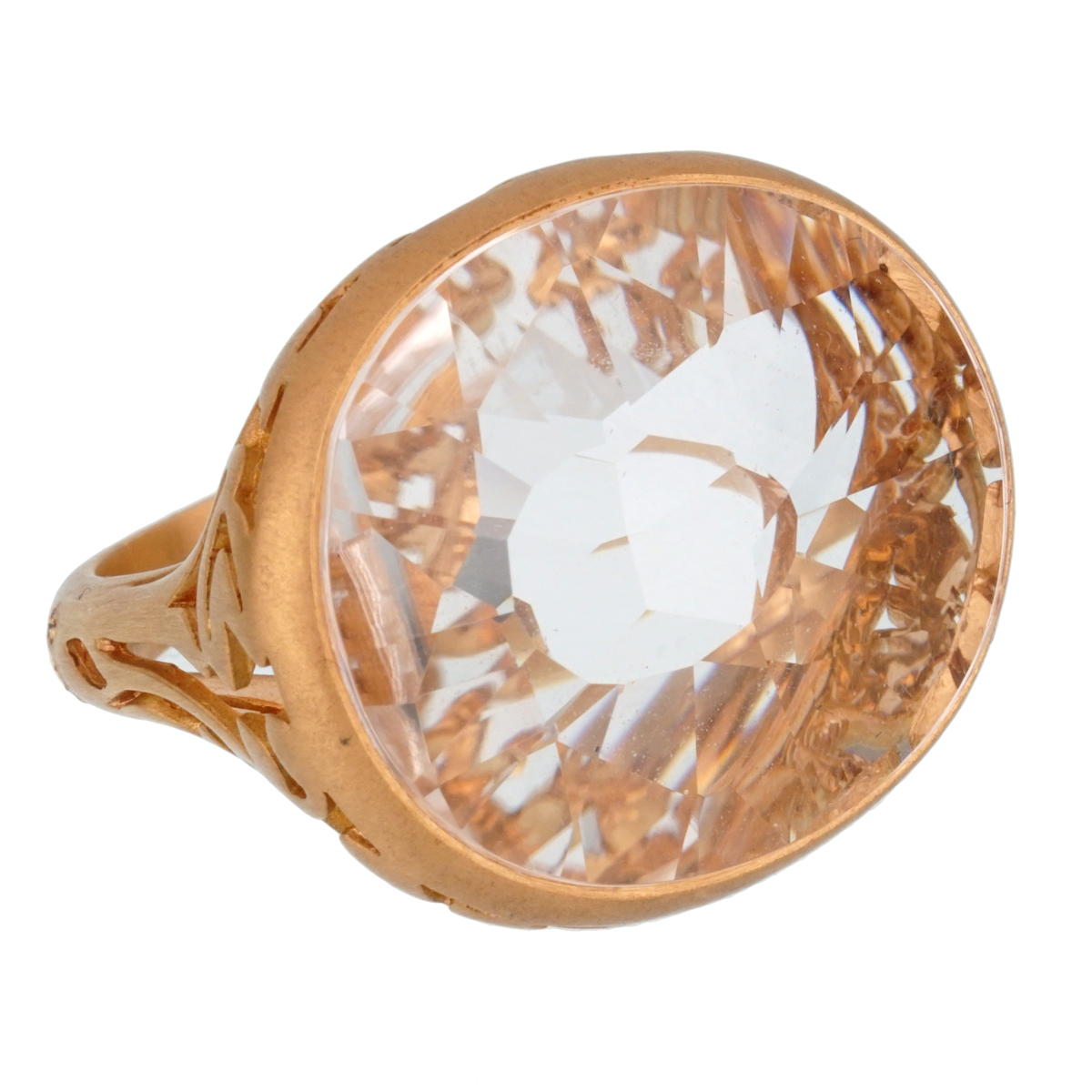 Pomellato 10 Carat Quartz Cocktail Rose Gold Ring Sz 5.75