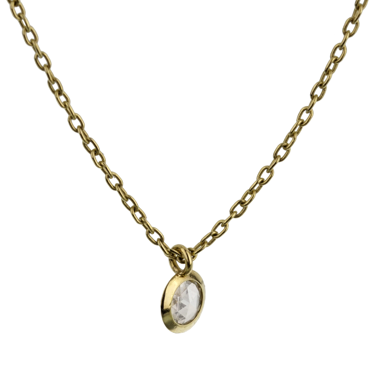 Pomellato Rose Cut Diamond Yellow Gold Necklace