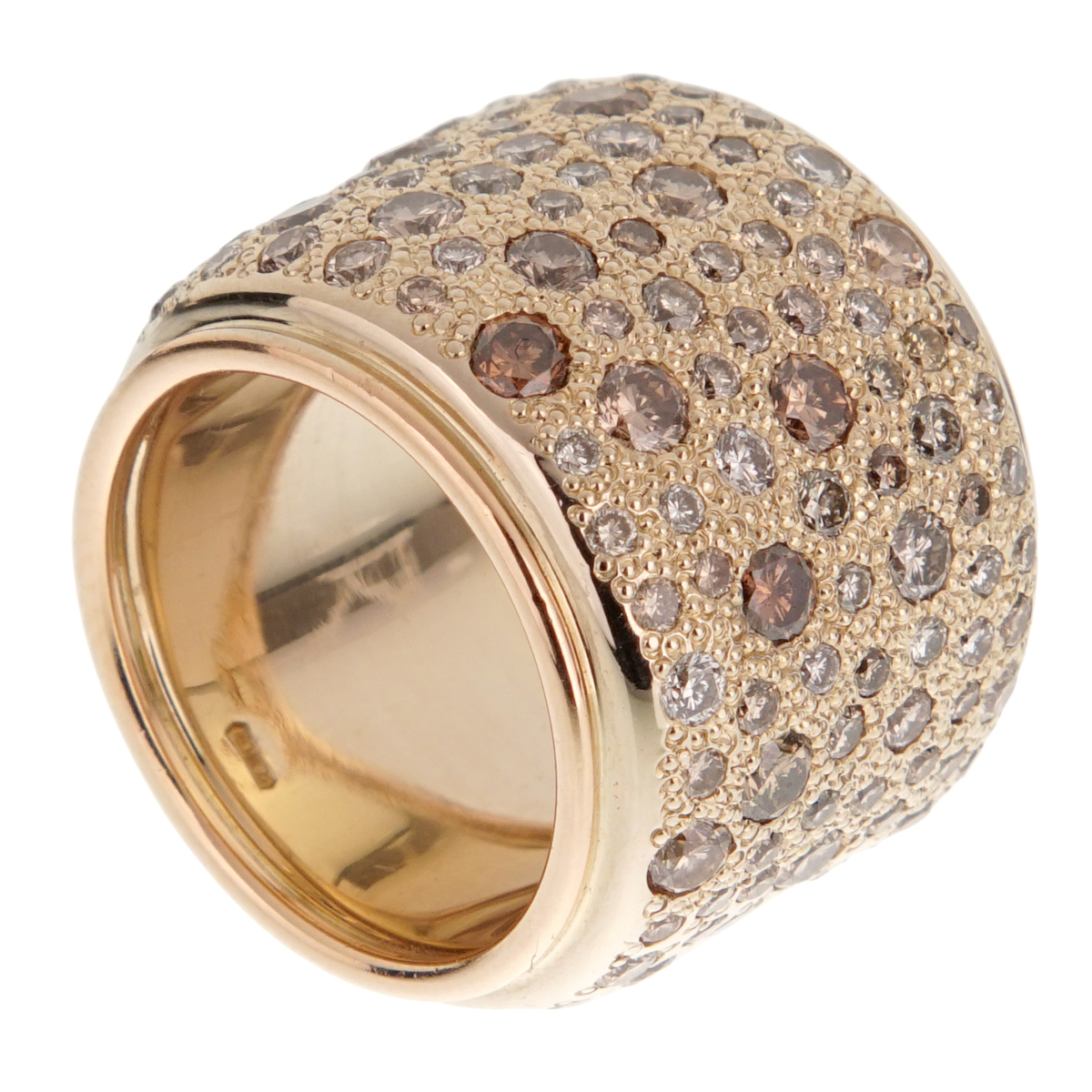 Pomellato Sabbia Diamond Band Gold Ring