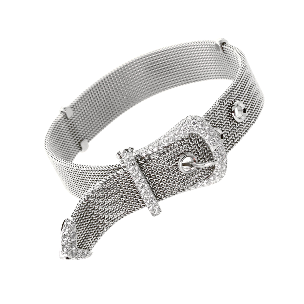 Tiffany & Co. Diamond Platinum Buckle Bracelet