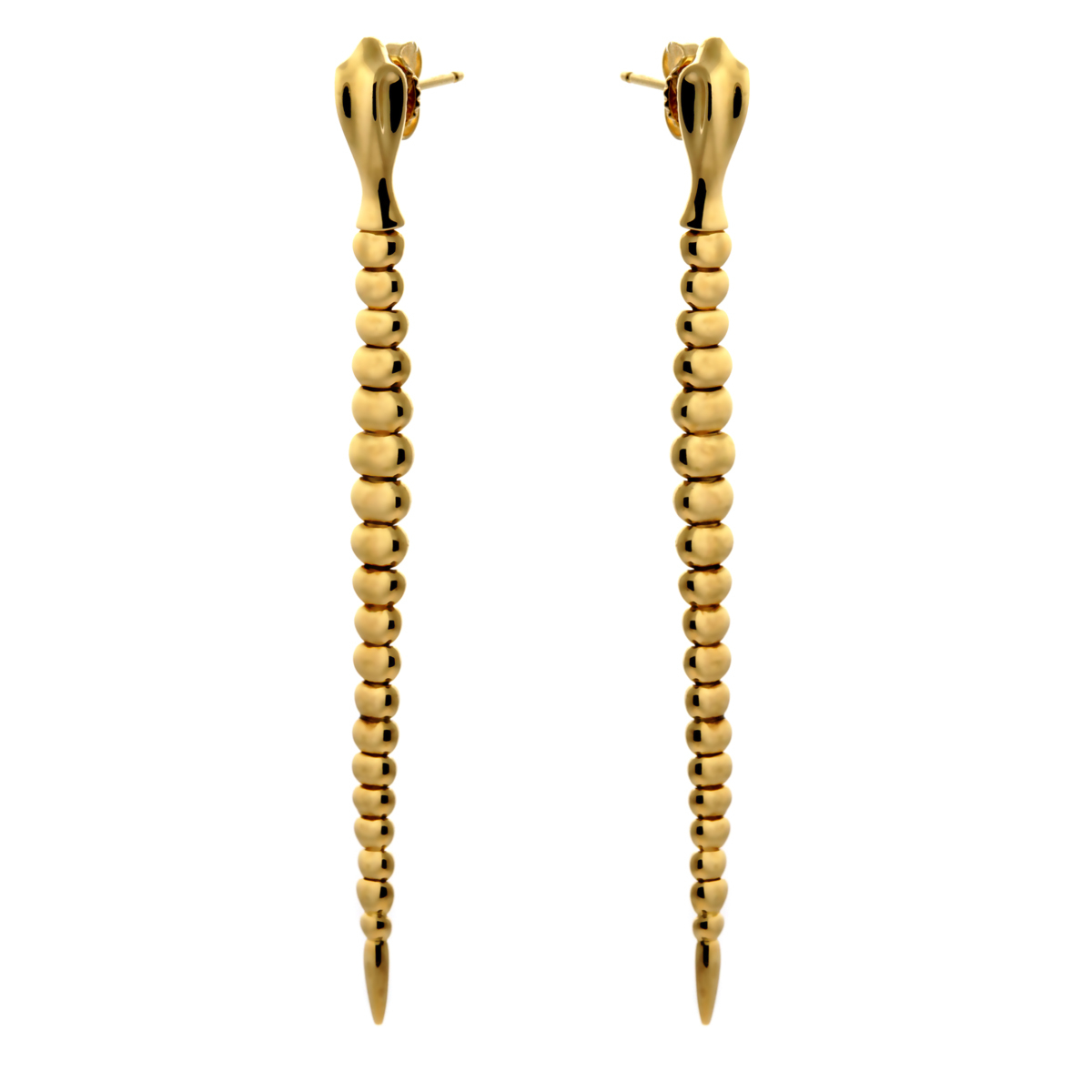 Tiffany and Co Gold Snake Drop Earrings