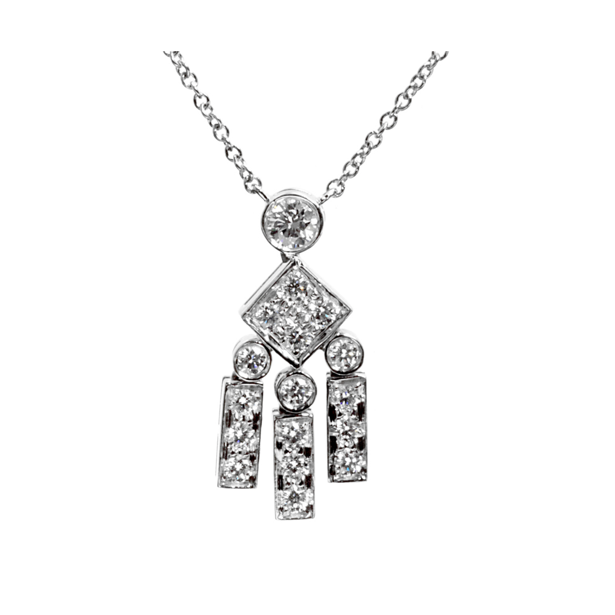 Tiffany & Co Legacy Diamond Platinum Necklace