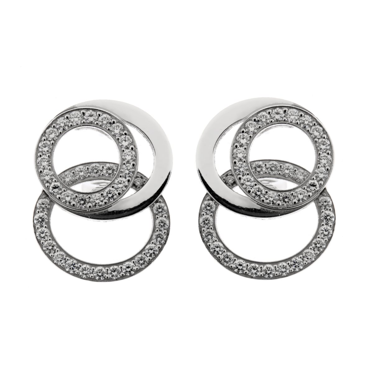 Audemars Piguet Millenary Diamond 18k White Gold Earrings - Audemars Piguet Jewelry