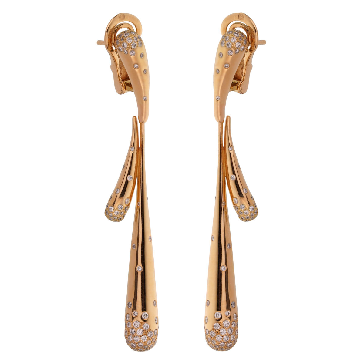Audemars Piguet Diamond Rose Gold Drop Earrings - Audemars Piguet Jewelry