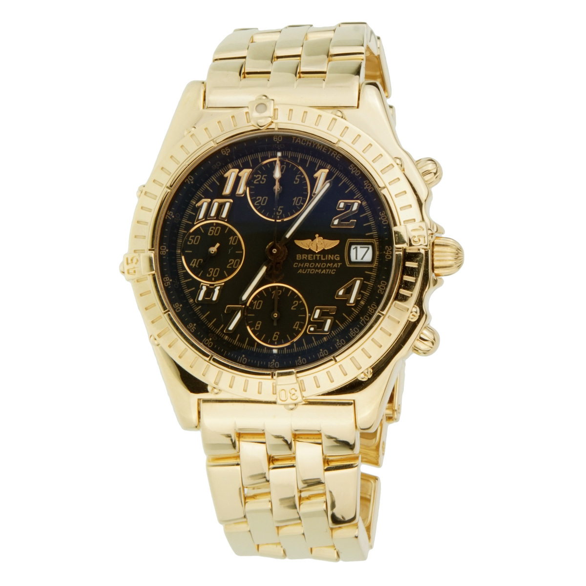 Breitling 18k Yellow Gold Chronomat Gold Watch - Breitling Jewelry