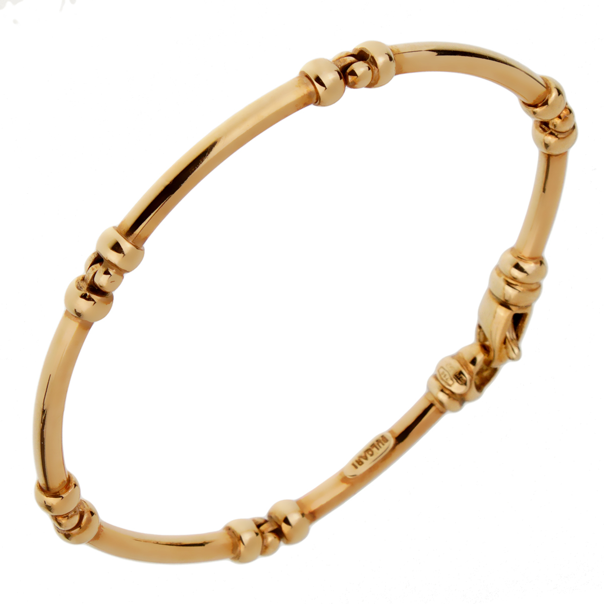 Bulgari Vintage Gold Tube Bracelet - Bulgari Jewelry