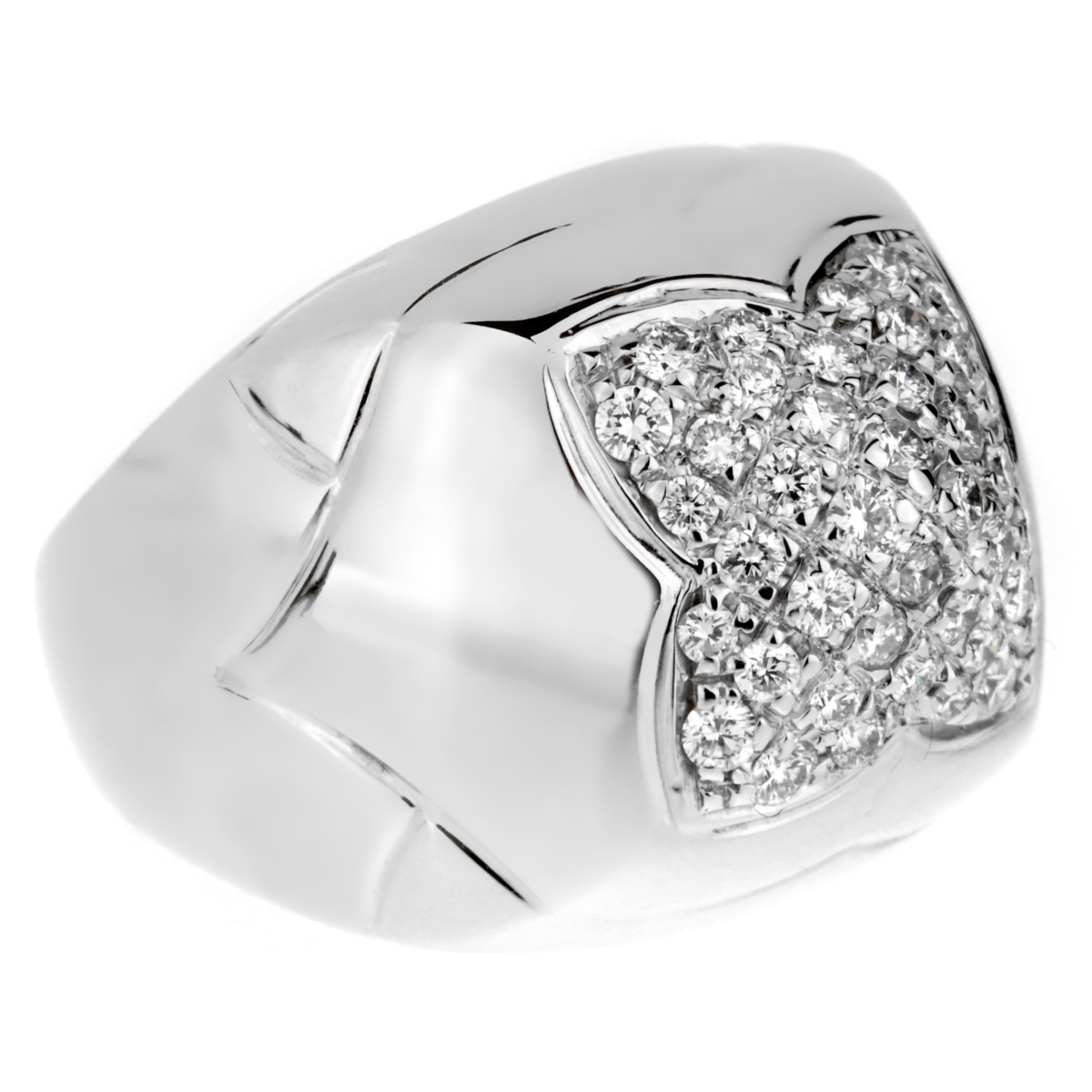 Bulgari Pyramid Diamond White Gold Ring - Bulgari Jewelry