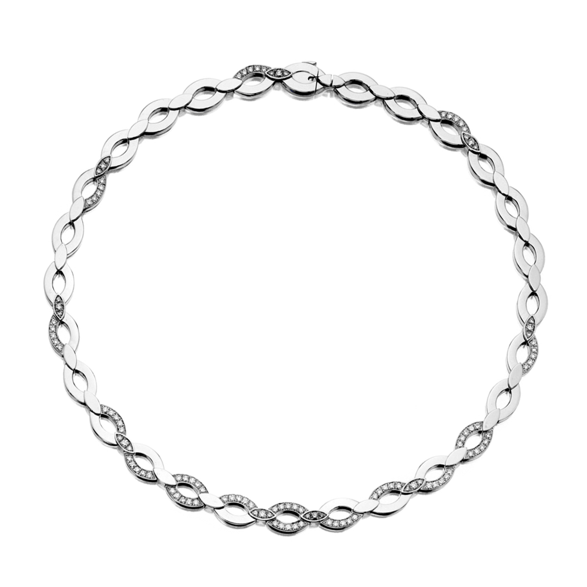 Cartier Diadea Diamond White Gold Necklace - Cartier Jewelry