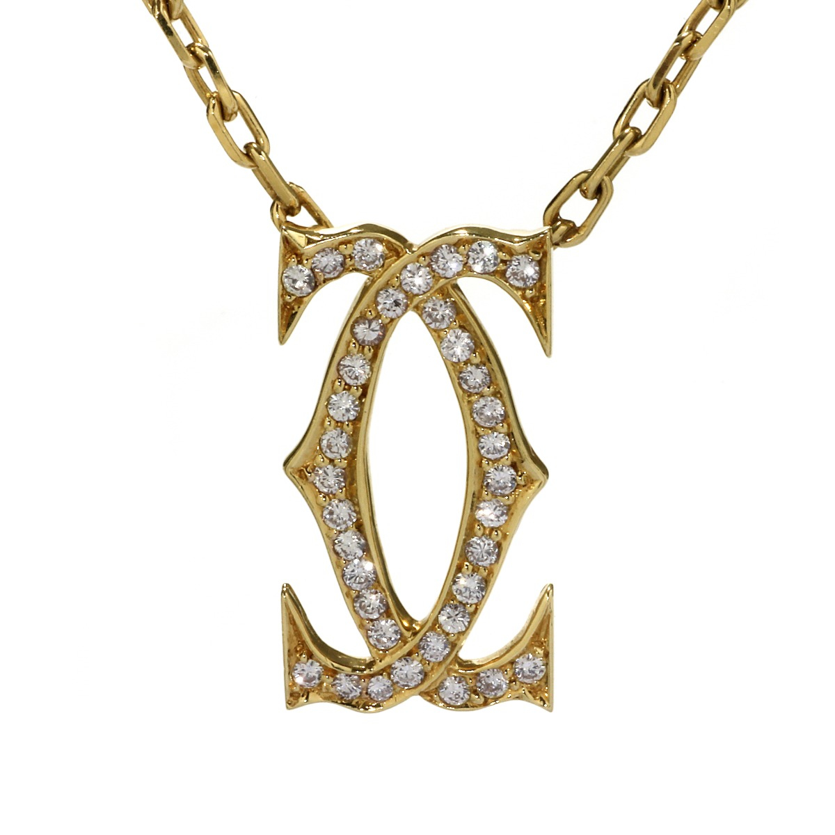Cartier Double C Diamond Gold Necklace - Cartier Jewelry