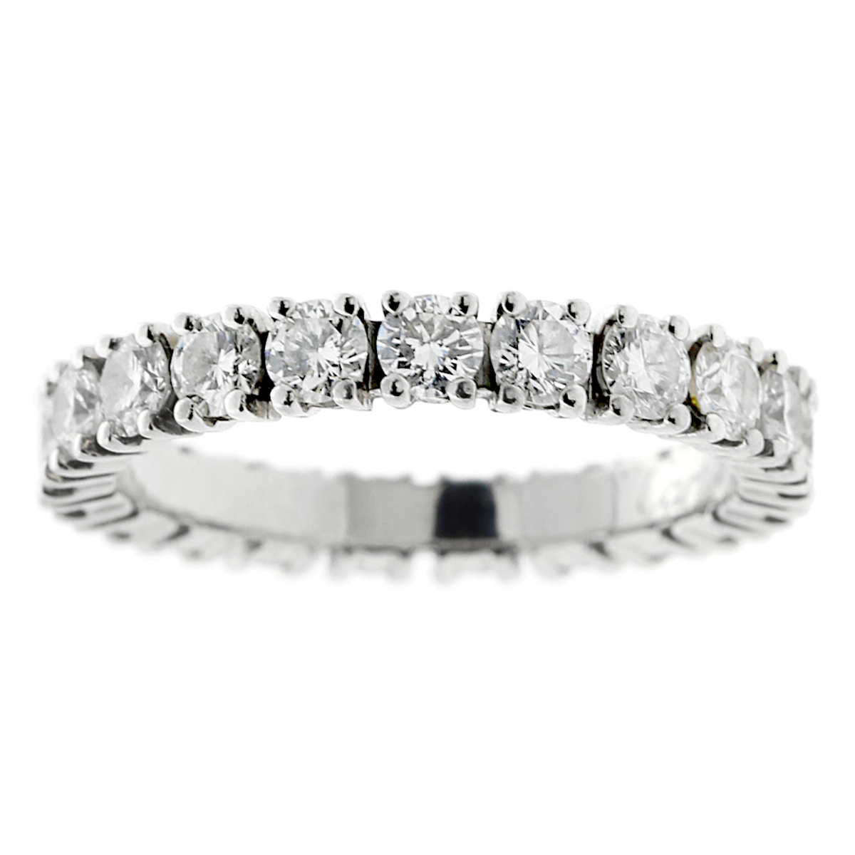 Cartier Diamond Eternity Platinum Ring - Cartier Jewelry