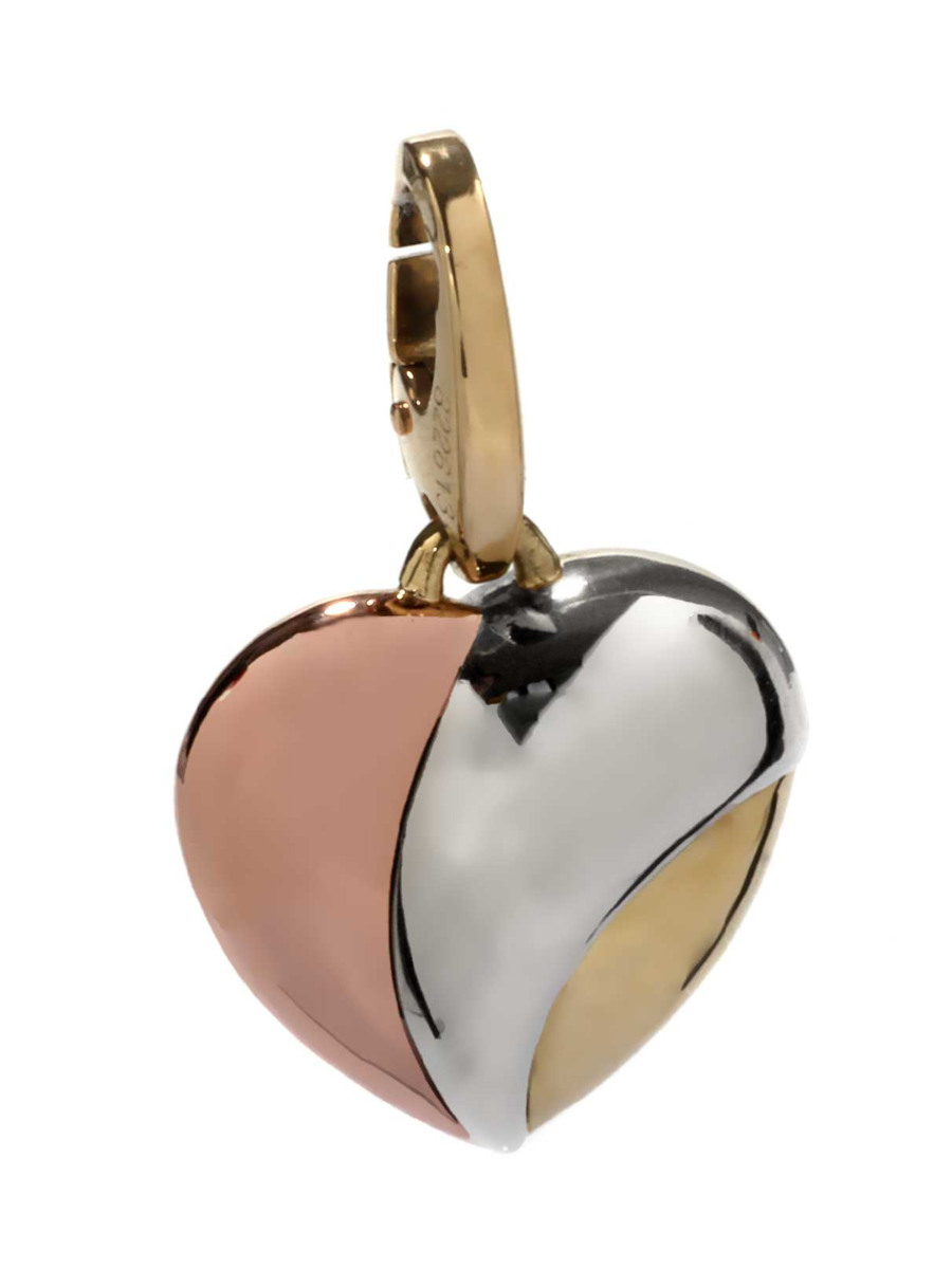 Cartier Heart Charm Multitone Gold Pendant - Cartier Jewelry