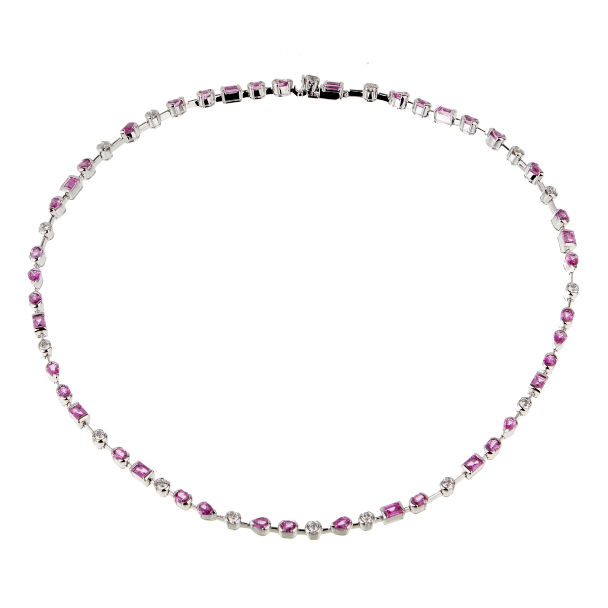 Cartier Meli Melo Diamond Pink Sapphire Necklace - Cartier Jewelry