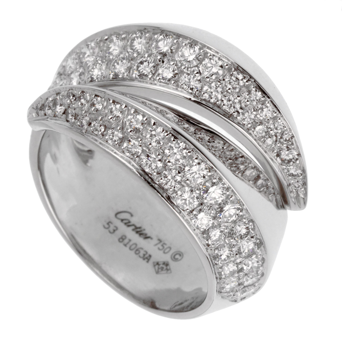 Cartier Panthere White Gold Diamond Cocktail Ring - Cartier Jewelry