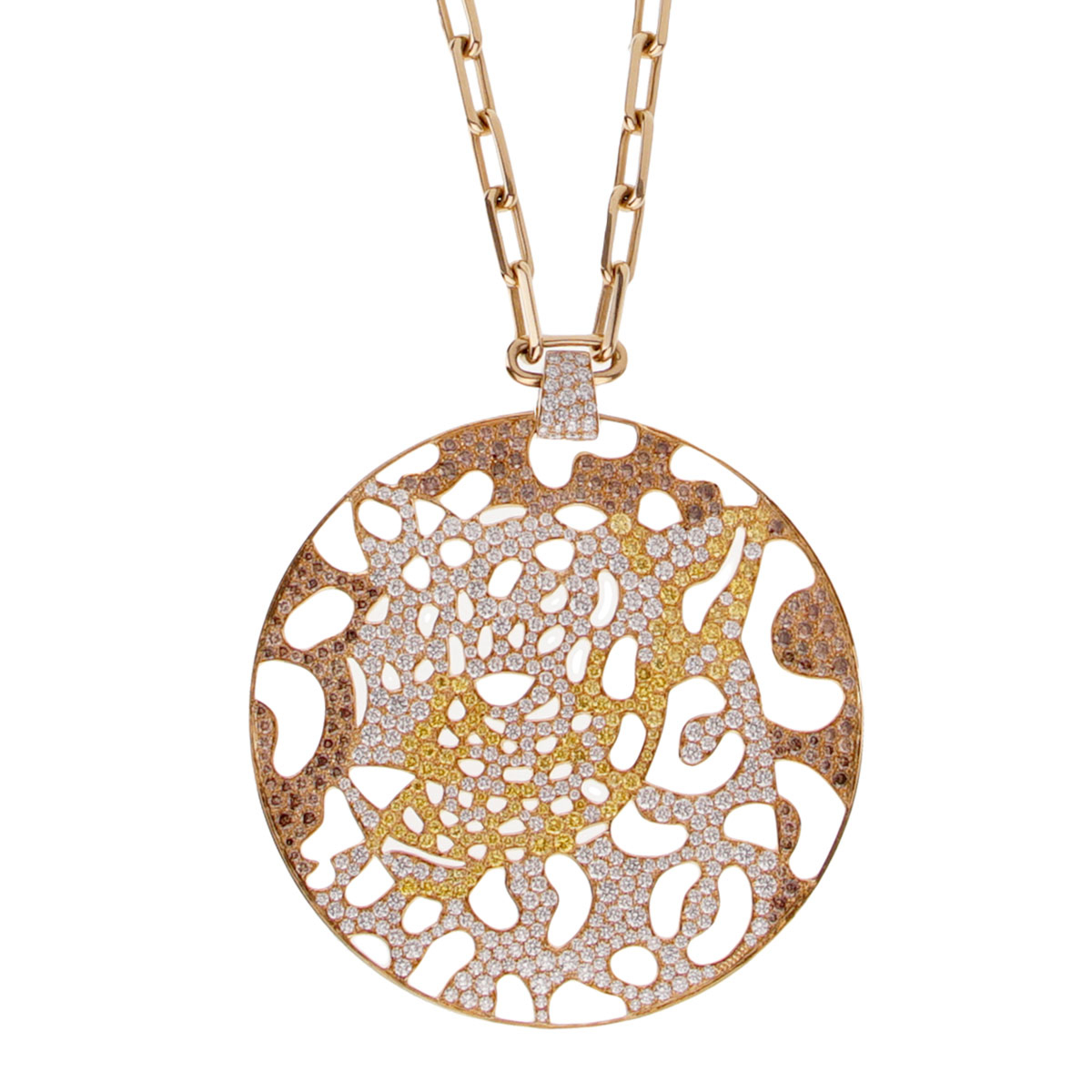 Cartier Panthere Openwork Limited Edition Gold Necklace - Cartier Jewelry