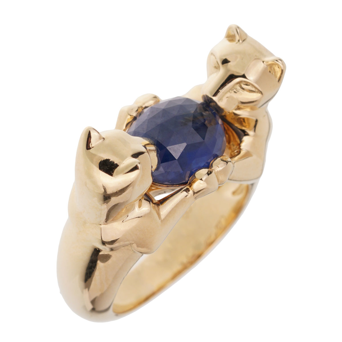 Cartier Double Panthere Sapphire Yellow Gold Ring - Cartier Jewelry