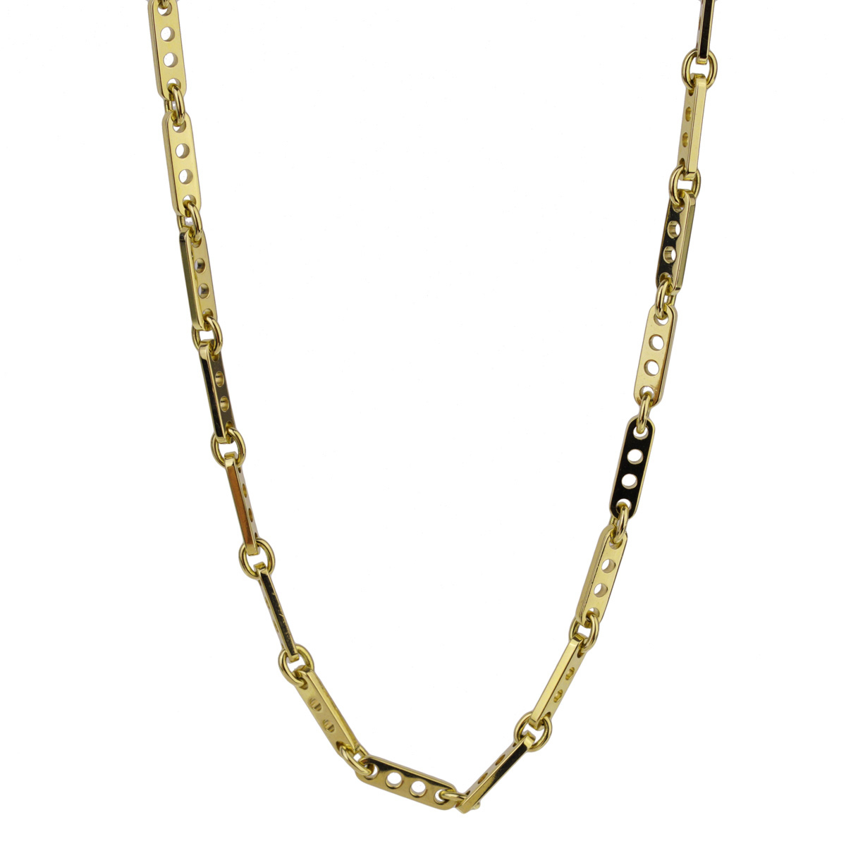 Cartier Vintage 18k Yellow Gold Bar Necklace - Cartier Jewelry
