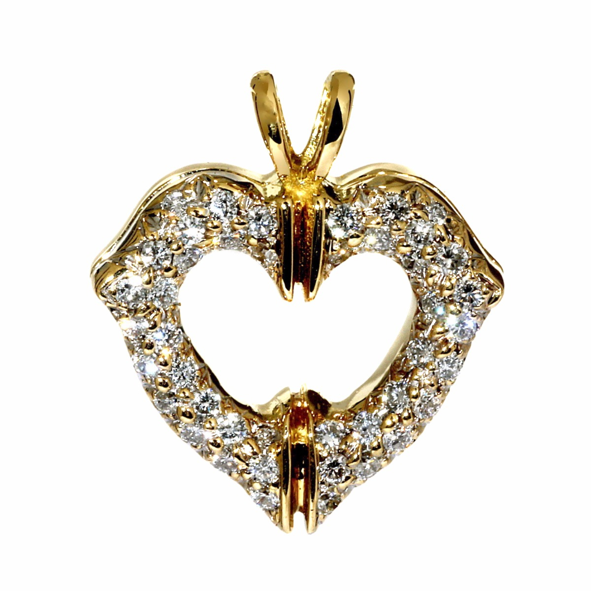 Cartier Heart Gold Diamond Pendant - Cartier Jewelry
