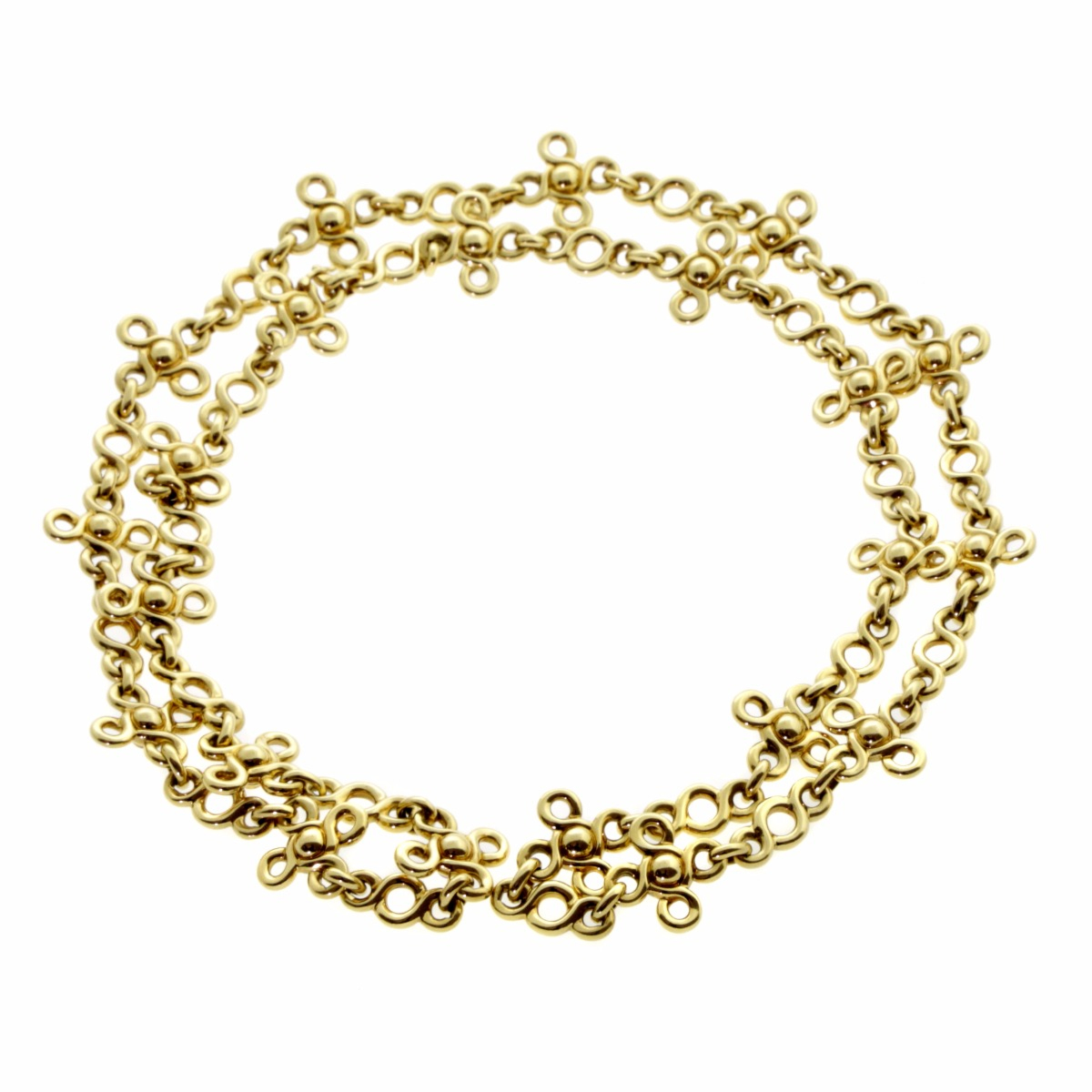 Chanel Gemstone Gold Sautoir Necklace - Chanel Jewelry