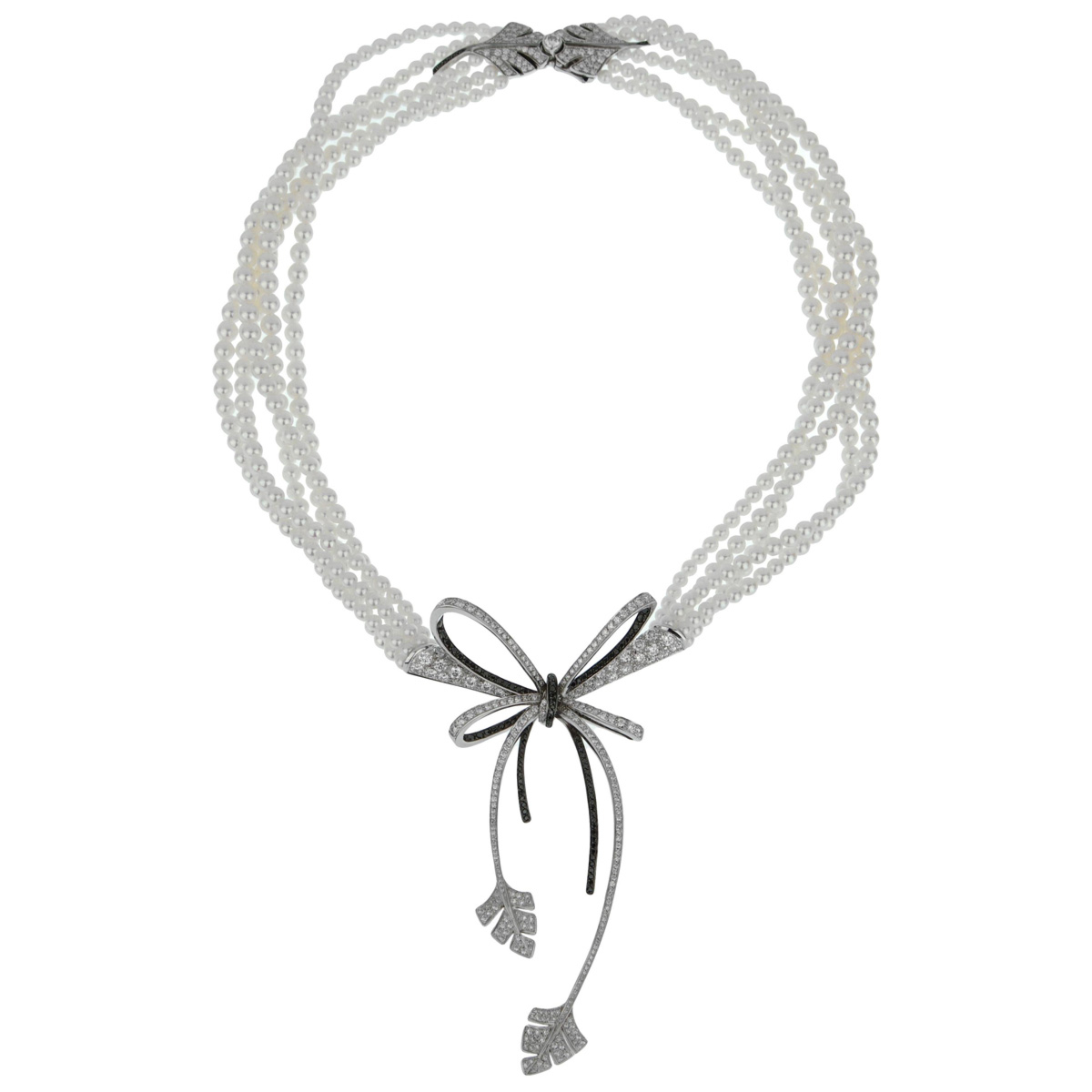 Chanel High Jewelry Diamond Pearl White Gold Necklace - Chanel Jewelry