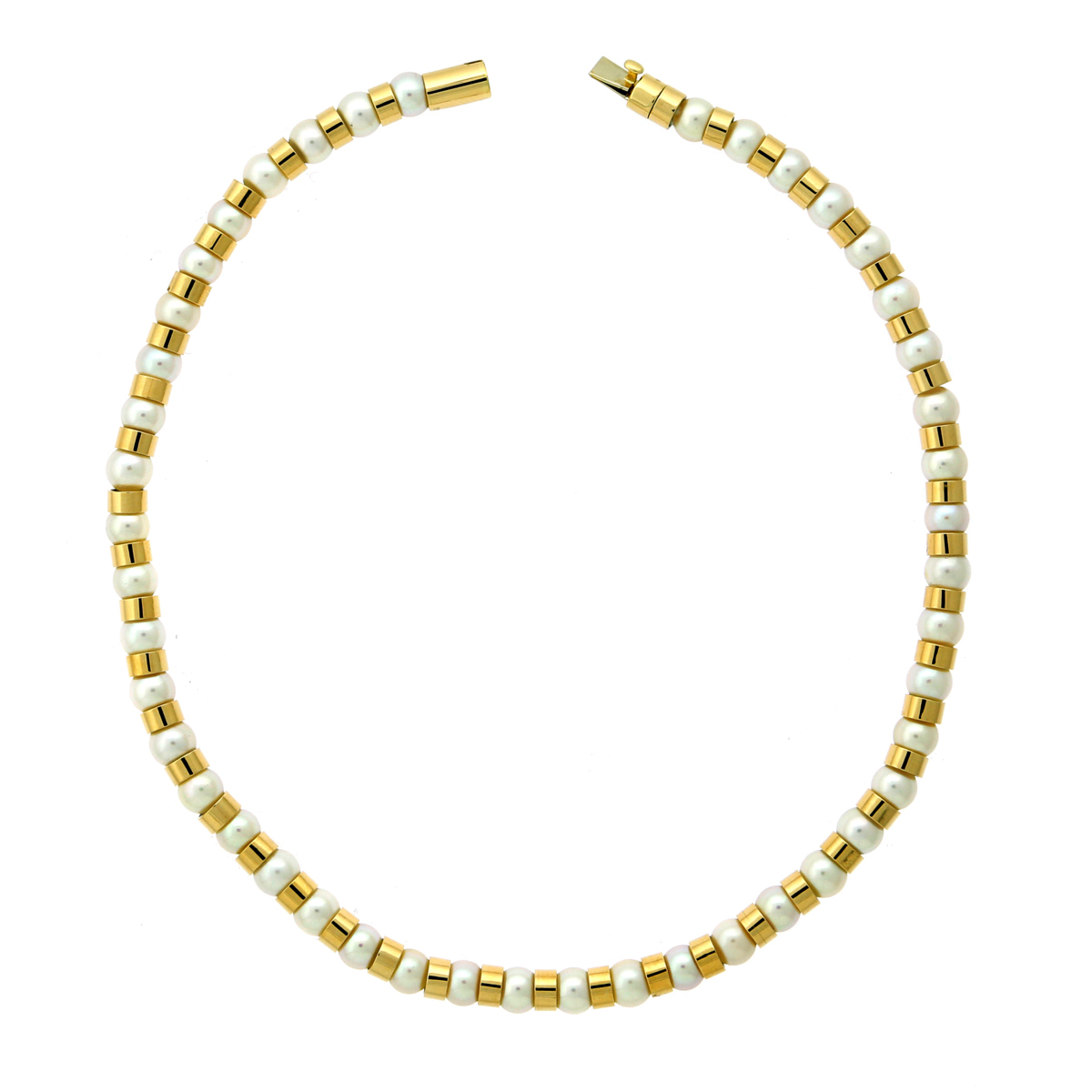 Chanel Yellow Gold Pearl Bead Necklace - Chanel Jewelry