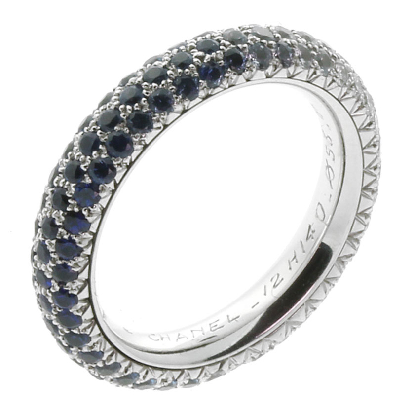 Chanel Sapphire Diamond Cocktail Ring - Chanel Jewelry