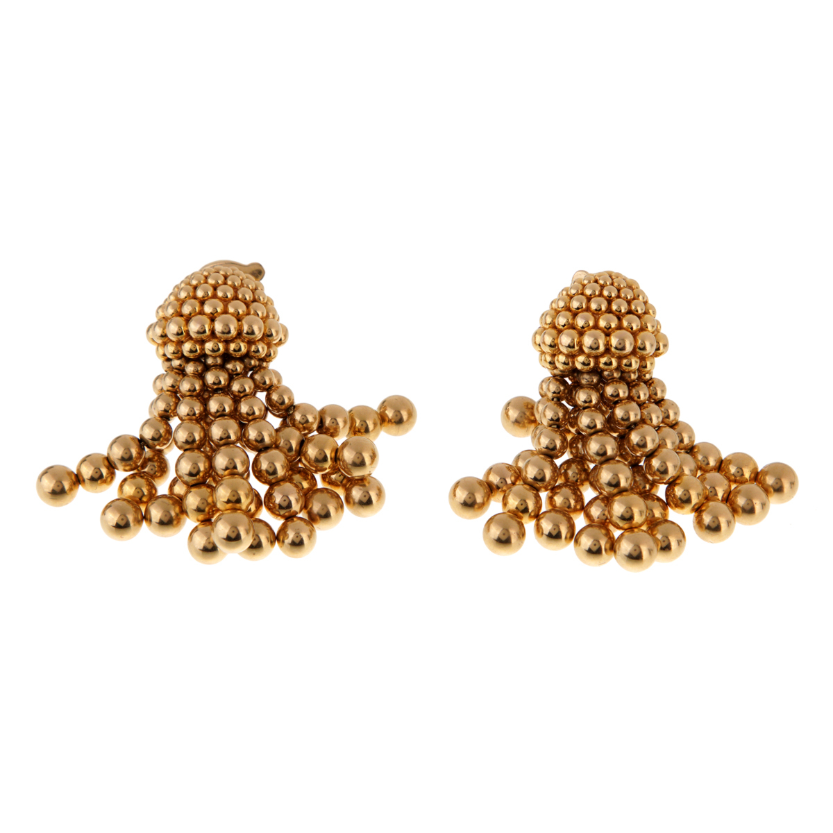 Chanel Vintage Gold Tassle Drop Earrings - Chanel Jewelry