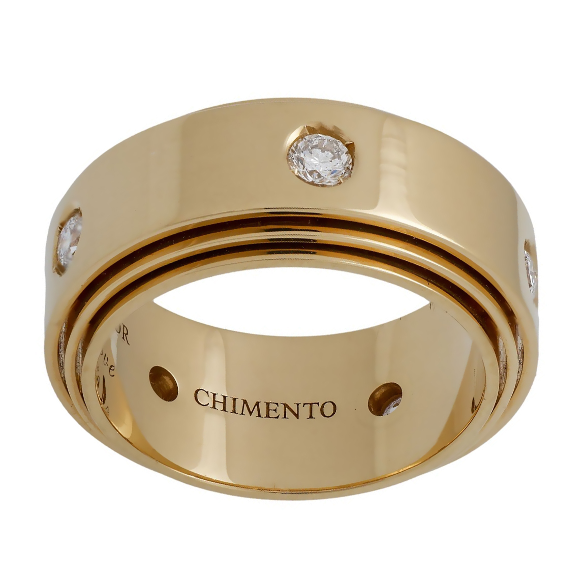 Chimento Diamond Yellow Gold Band Ring - Chimento Jewelry