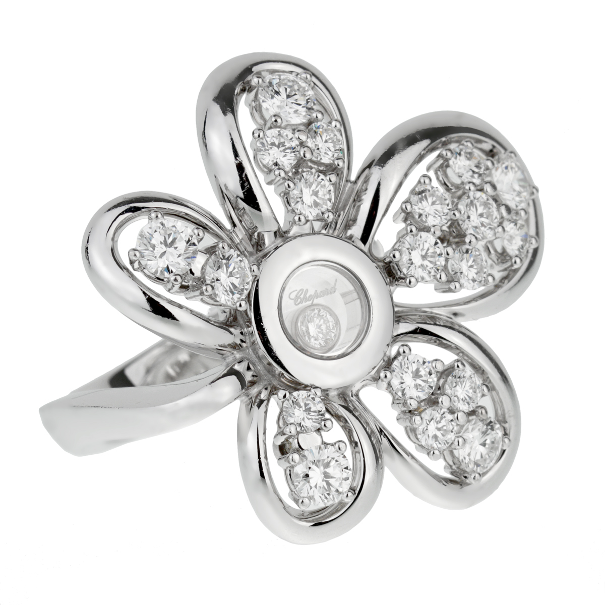 Chopard Flower Diamond White Gold Ring - Chopard Jewelry