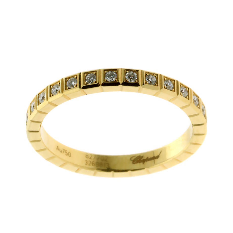 Chopard Ice Cube Diamond Eternity Gold Ring - Chopard Jewelry