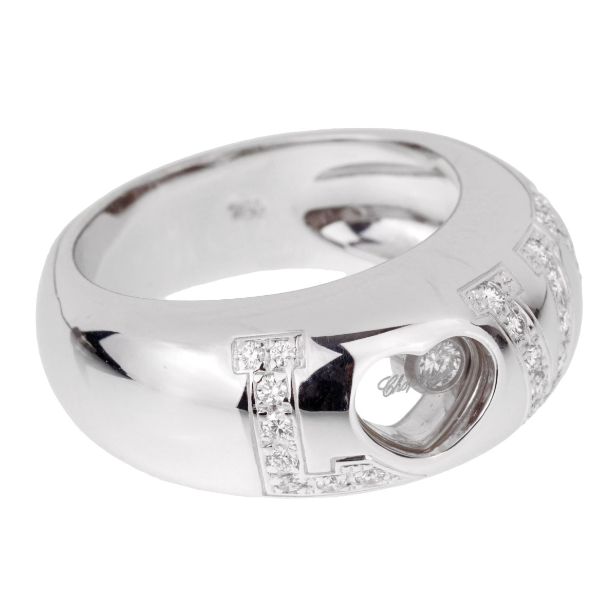 Chopard Happy Diamond Love White Gold Ring - Chopard Jewelry