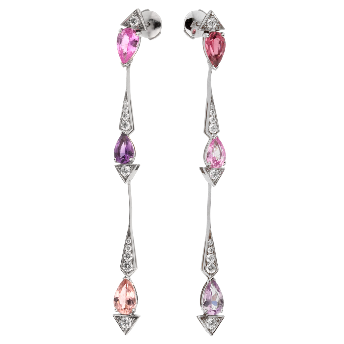Christian Dior Diamond Sapphire Drop Earrings - Dior Jewelry