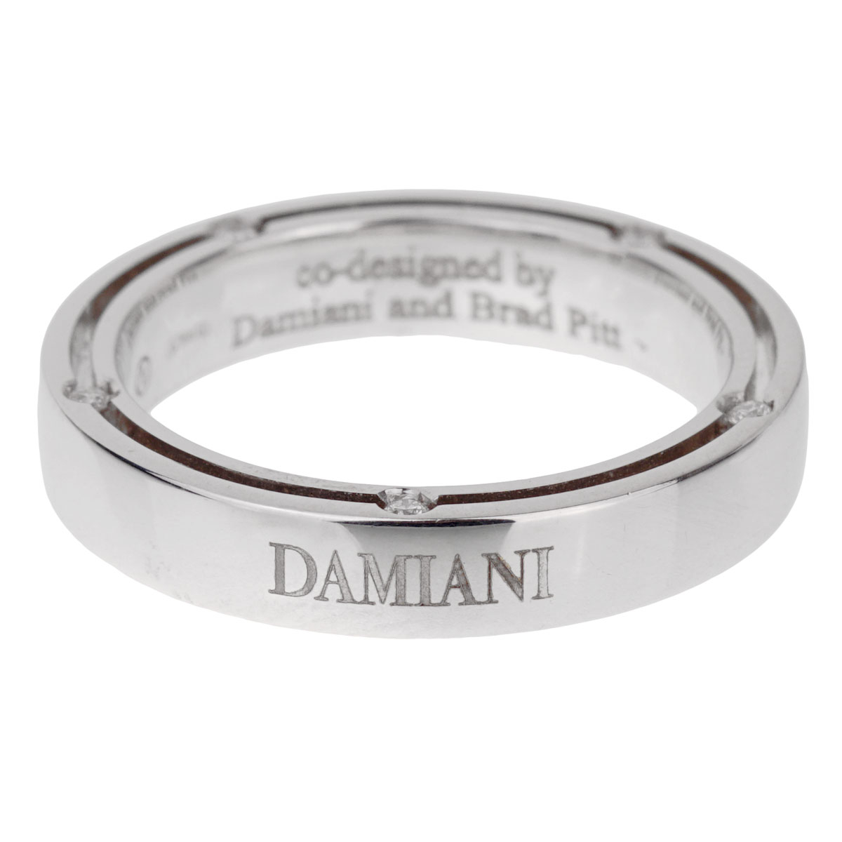 Damiani Brad Pitt White Gold Diamond Ring - Estate Jewelry