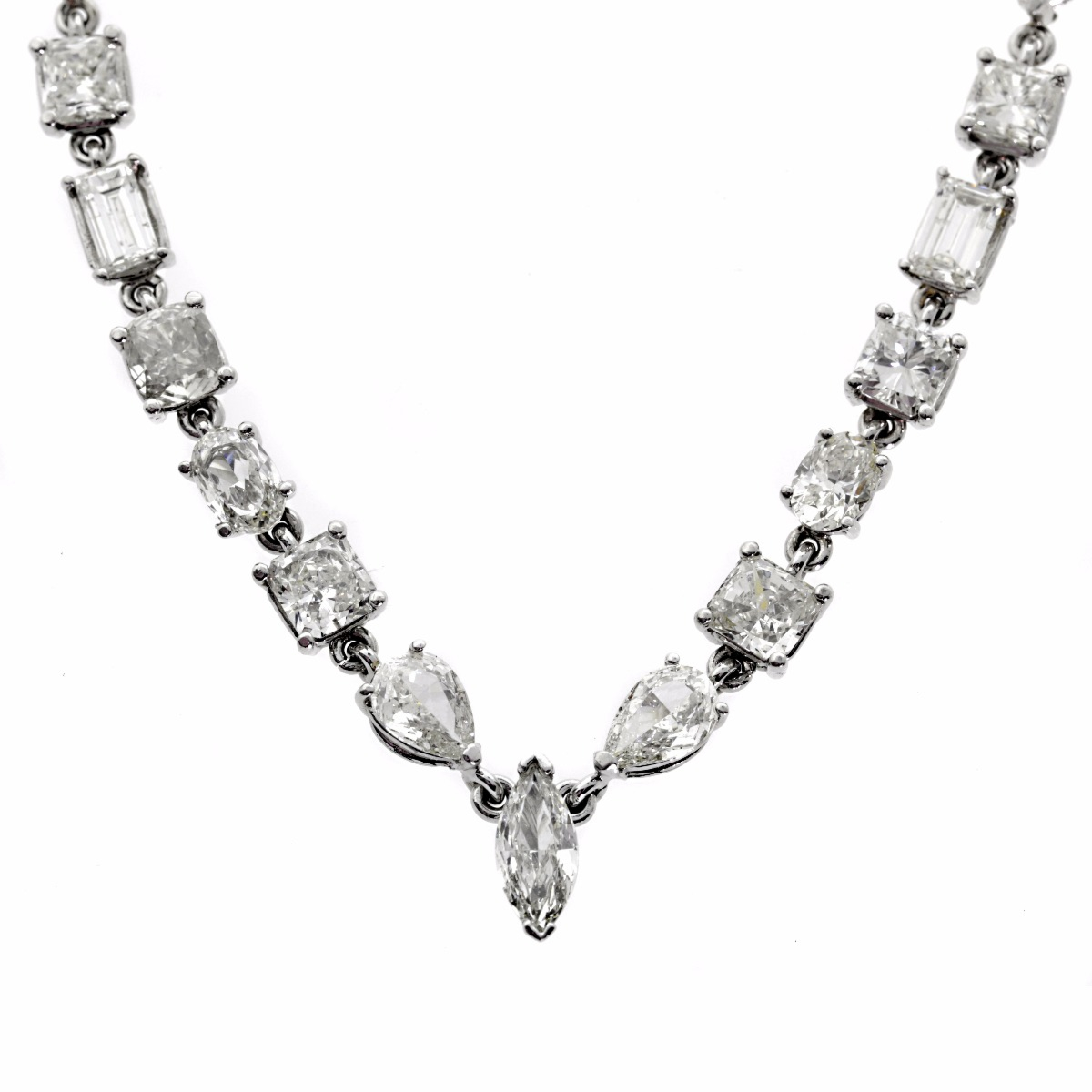 31 Carat Diamond Tennis Necklace - Estate Jewelry