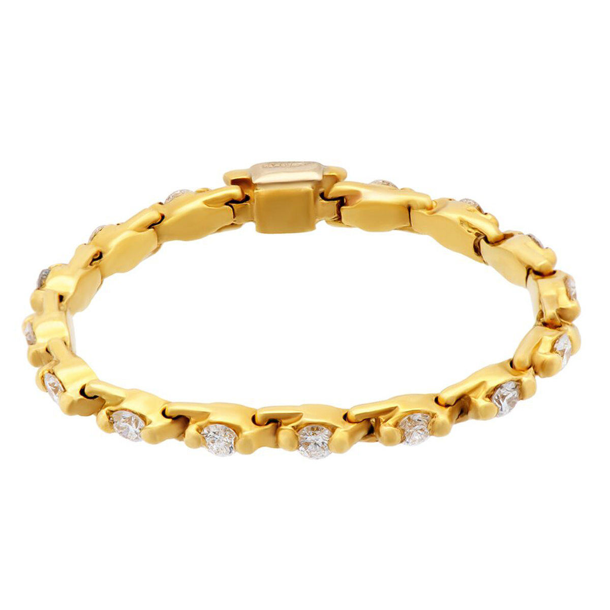 Estate Yellow Gold Diamond Eternity Ring - Estate Jewelry