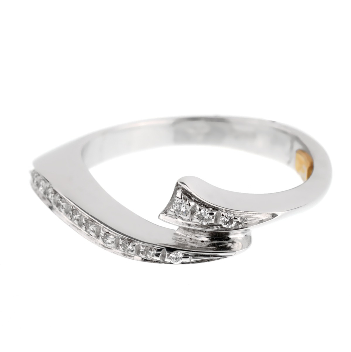 White Gold Diamond Cocktail Ring - Estate Jewelry