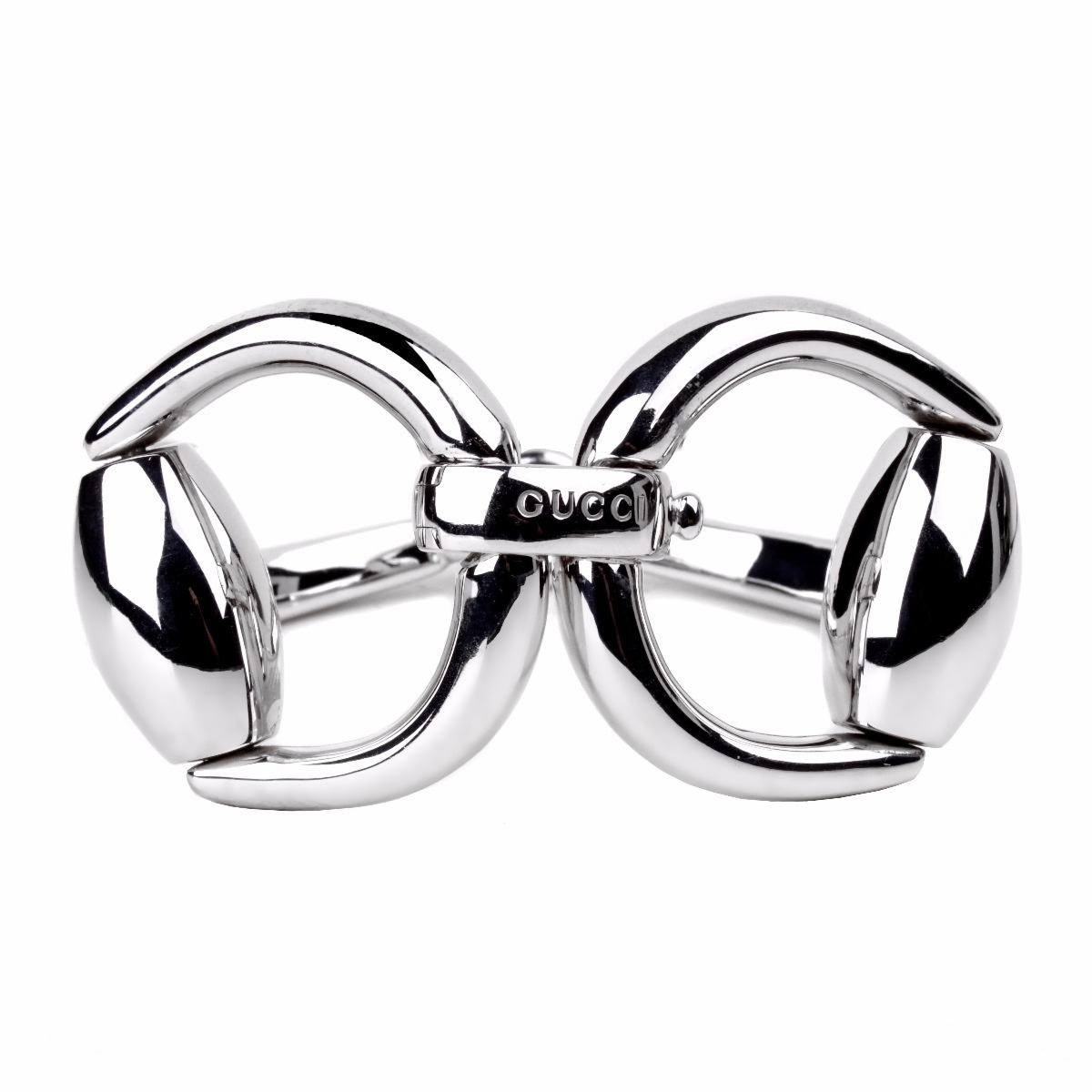 Gucci Horsebit Silver Bangle Bracelet - Gucci Jewelry