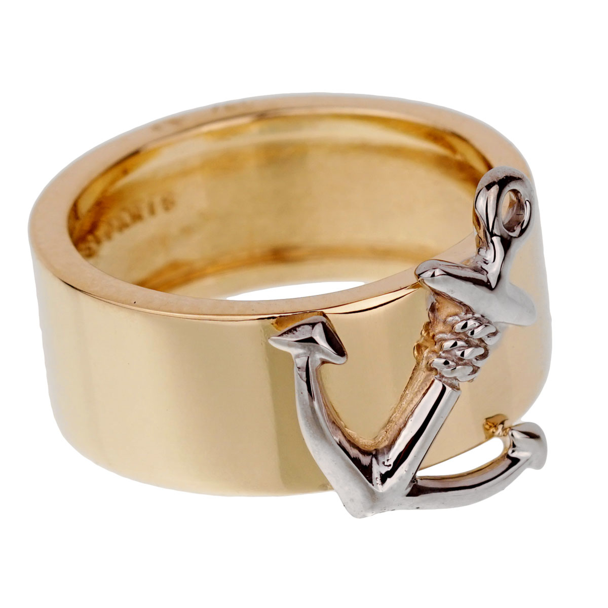 Hermes Yellow Gold Anchor Band Ring - Hermes Jewelry