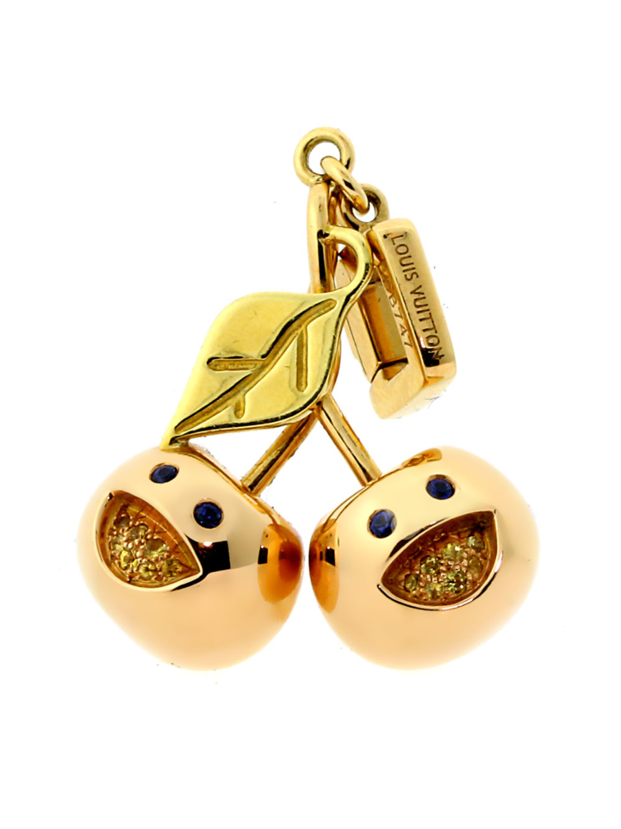 Louis Vuitton Cherry Charm in Rose & Yellow Gold - Louis Vuitton Jewelry