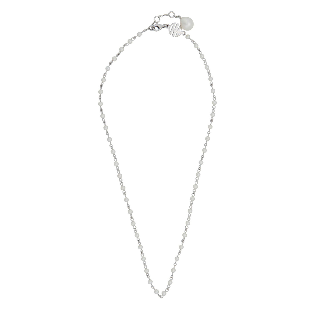 Mimi Milano Pearl White Gold Necklace - Mimi Milano Jewelry