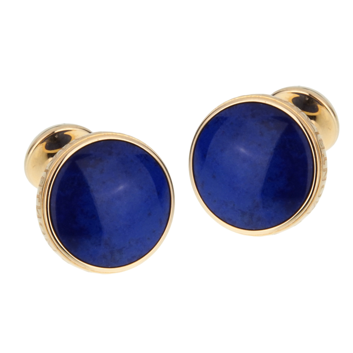 Montblanc Meisterstuck Yellow Gold and Lapis Cufflinks - Montblanc Jewelry