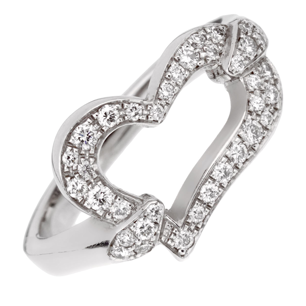 Piaget Heart Diamond White Gold Ring - Piaget Jewelry
