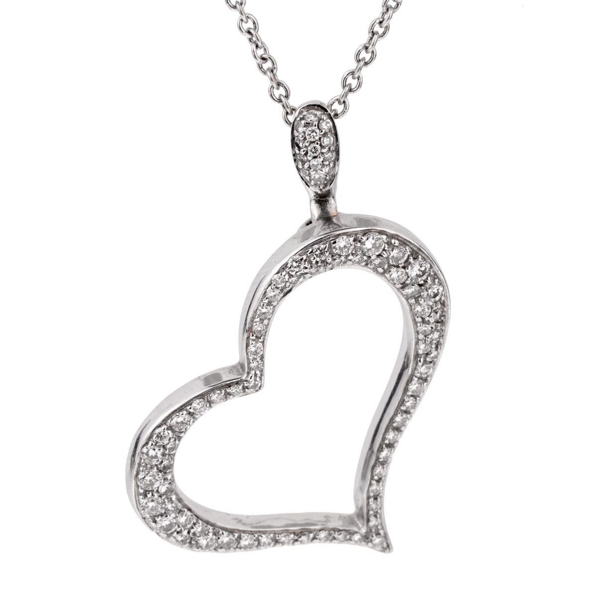 Piaget Diamond Heart White Gold Necklace - Piaget Jewelry
