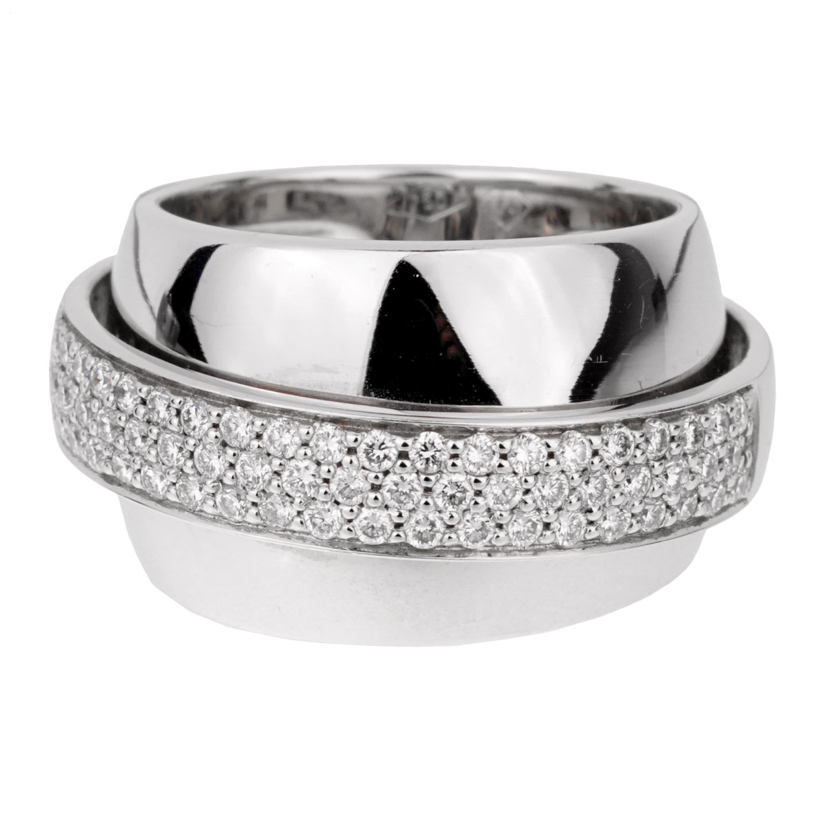 Piaget Possession Pave Diamond White Gold Ring Sz 5 3/4 - Piaget Jewelry