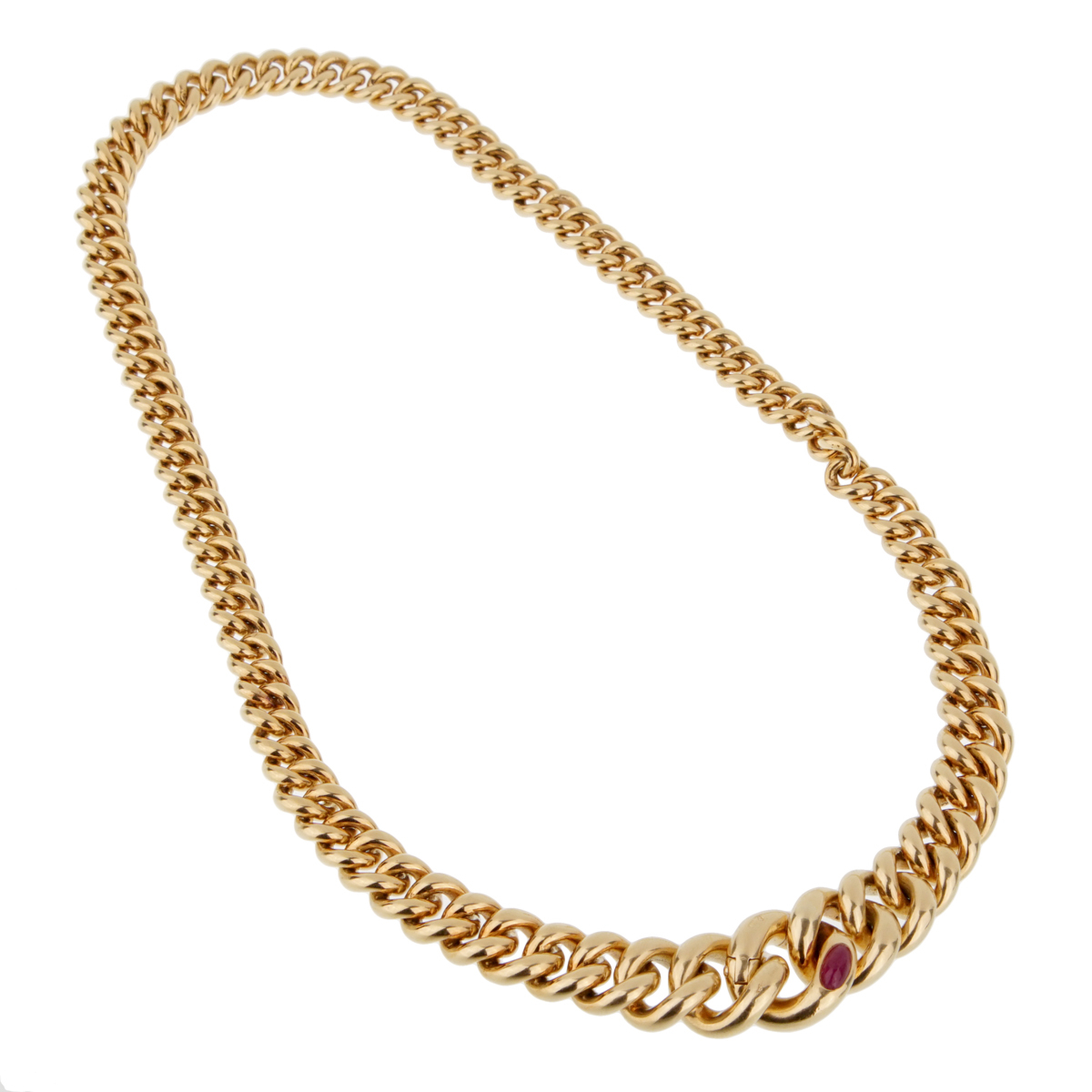 Pomellato Yellow Gold Ruby Chain Necklace - Pomellato Jewelry